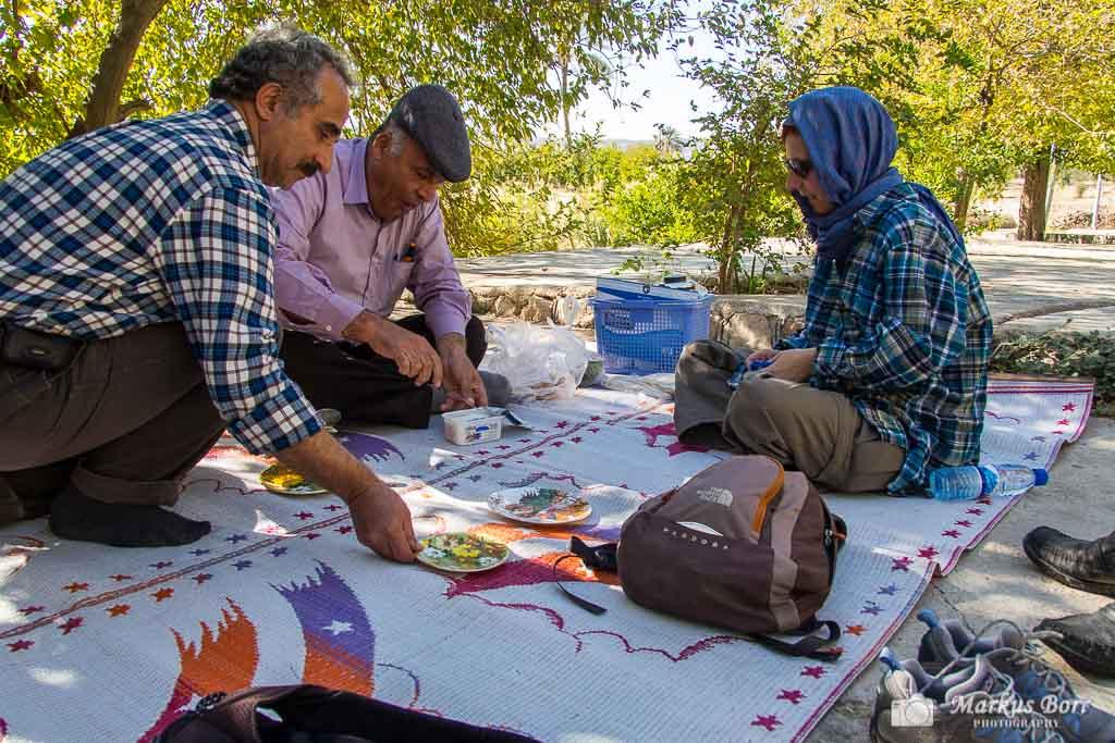 Picknick am Tang-e Chogan im Iran