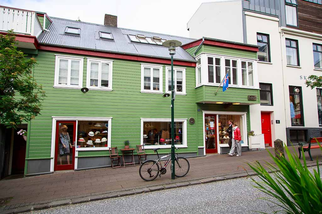 Strassenszene in Reykjavik