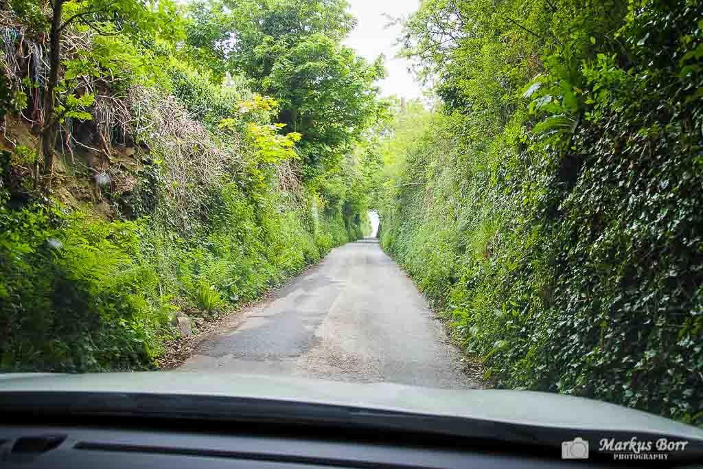 Schmale Straßen in Cornwall