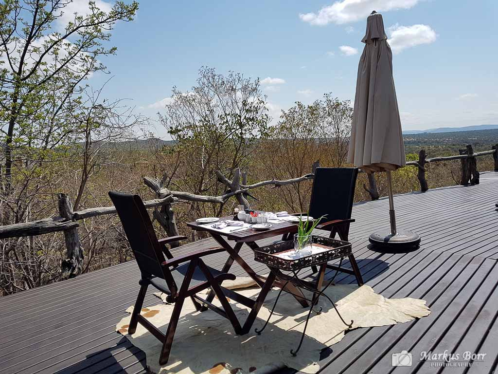 Wild and Free Game Lodge Terrasse